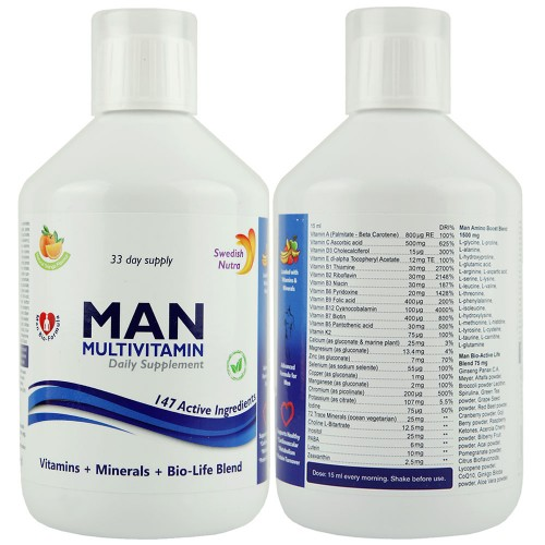 Multivitamin folyadék férfiak számára 500 ml