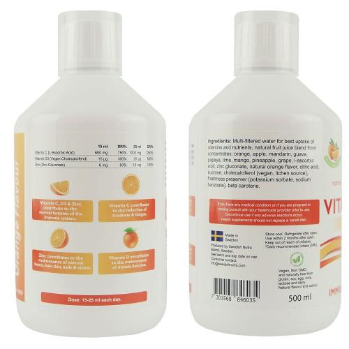 C + D3 + Cink folyékony vitamin koncentrátum, 500 ml