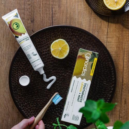 Citrom és Menta organikus fogfehérítő fogkrém, 75 ml