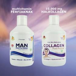 Multivitamin & bőrápoló csomag férfiaknak - 2 x 500 ml